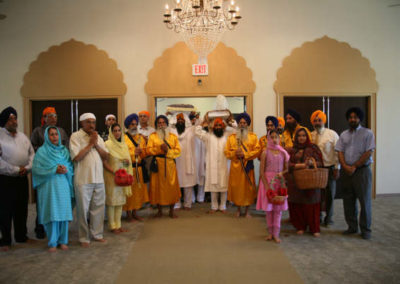 Sri Guru Granth Sahib Ji's 'sawari' entering the GSSWH Dewan Hall
