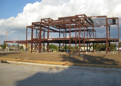 November 1, 2008 - GSSWH Main Building: Steel Frame Completed