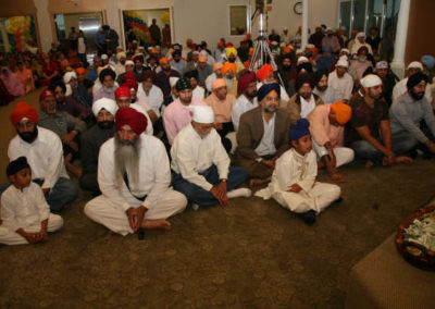 Members of the Sangat at the Grand Opening Dewan